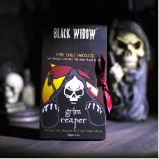 Black Widow™ Ghost Chilli Dark Chocolate Bar (70% Cocoa) with Geranium & Lemon