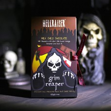 Hell Raiser™ Ghost Chilli Milk Chocolate Bar (33.6% Cocoa) with Sweet Orange, Cinnamon & Clove